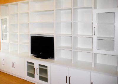 Librería blanca lacado/ laminado