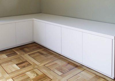 Mueble de TV rincon (lacado en blanco)