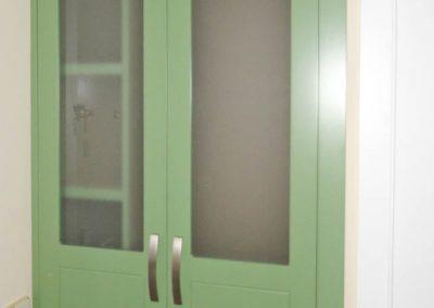 Armario lacado verde