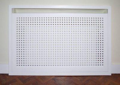 Cubre-radiador celosía pequeña recta